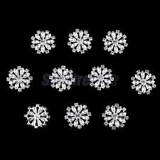 10x Crystal Rhinestone Flatback Buttons Wedding Invitation Embellishments