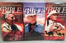 NIP Charlton Heston Presents The Bible - 3 VHS Tapes