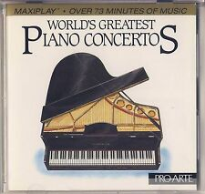 Grieg, Beethoven - Sherman: World's Greatest Piano Concertos (Pro-Arte) Like New