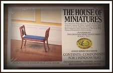 DOLLHOUSE HOUSE OF MINIATURES DUNCAN PHYFE WINDOW SEAT KIT, ANTIQUE REPLICA
