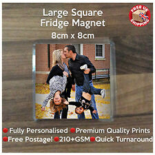 Personalised Custom Photo Square Coaster Fridge Magnet Gift - Family Birthday