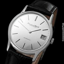 1979 IWC Vintage Ultra Thin Automatic Watch - Steel - Very Rare JLC Cal. 3252