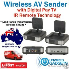 5.8Ghz Wireless AV Sender TV Audio Video Transmitter Receiver New Foxtel IQ2