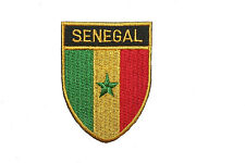 SENEGAL COUNTRY FLAG OVAL SHIELD FLAG EMBROIDERED IRON-ON PATCH CREST BADGE