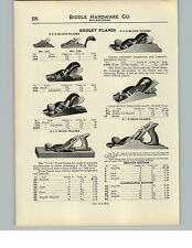 1910 PAPER AD Siegley Plane Planes Tools Wood Iron Block