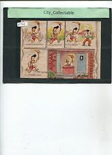 P736 # MALAYSIA USED PICTURE POST CARD * LATS' COMIC DRAWING .. SPORT