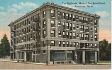 Early 1900's The Redlands Modern Fire Proof Hotel in Palestine, TX Texas PC