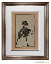 Marino MARINI Lithograph SIGNED Ltd EDITION Cavallo 1950 +Custom FRAME 20x24in
