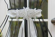 2 Sets - Rhinestone Wedding White Sash Belt Ivory Bridal Prom Sash Crystal Belt