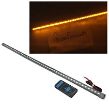 56cm 48 LED 5050 Waterproof Flash Car Knight Rider Strip Lights w/Remote Amber