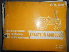 Renault R7050 R7052 - tracteur D35 D22 : catalogue pièces PR602.3