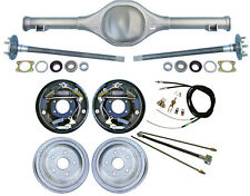 "CURRIE 64-66 MUSTANG REAR END & 10"" DRUM BRAKES,LINES,PARKING BRAKE CABLES,AXLES"