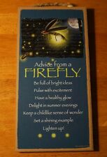 ADVICE FROM A FIREFLY - BE FULL OF BRIGHT IDEAS Lightning Bug Sign Garden Decor
