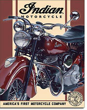 """ Indian Motorcycle"" America's First Motorcycle, Tin/Metal Sign for the Man Cave"