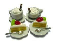 Miniature Set of Coffee and Bakery Dollhouse Miniatures Food Bakery Yummy
