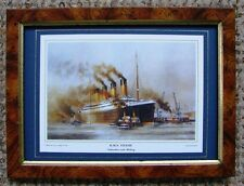 FRAMED SMALL PRINT OF  TITANIC  DEPARTURE INTO HISTORY BY  COLIN VERITY R.S.M.A.
