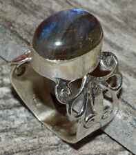 Labradorite 925 Sterling Silver Ring Jewelry s.8 JJ5256