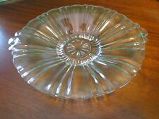 Glass Candy Dish Scalloped Vtg