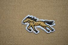 Mustang Horse 100% Virgin Acrylic Indie USA Made VTG 80s M Preppy VNeck Sweater