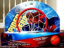 MARVEL SPIDER-MAN OVER-THE-DOOR BASKETBALL SET,W/ BREAKAWAY RIM,NET,BALL,3+,NEW