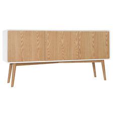 Oak & White Retro Designer 3 Door Large Sideboard. Full range available.