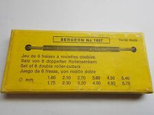 BERGEON NO1897 WATCHMAKER CLOCKMAKER SET OF SIX DOUBLE ROLLER CUTTERS NEW TOOL