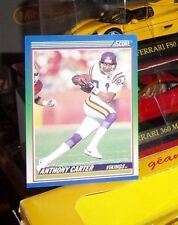 1990 Score #345 Anthony Carter Minnesota Vikings Football Card 0a1 NEUVE