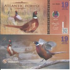 ATLANTIC FOREST BILLETE 19 AVES DOLLARS 2016