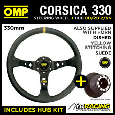CITROEN SAXO VTR / VTS 99- OMP CORSICA 330 SUEDE LEATHER STEERING WHEEL & HUB