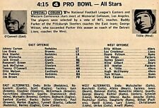 1958 NFL PRO BOWL TV FOOTBALL AD~YA TITTLE NEW YORK GIANTS~TOMMY O'CONNELL