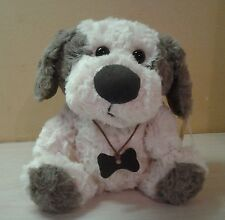 "Lucky Dog Brown Cream Plush 8"" Sitting Bone Necklace stuffed animal toy NWT"