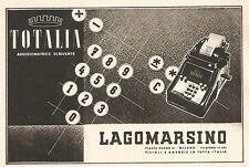 Y2356 TOTALIA - Macchine per ufficio LAGOMARSINO - Pubblicità del 1942 - Old ad