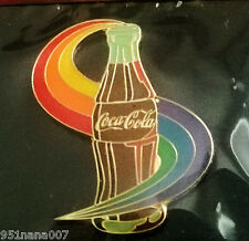 COCA-COLA Collectibles Coca-Cola Enamel RAINBOW SWIRL PIN  NEW IN PACKAGE!!