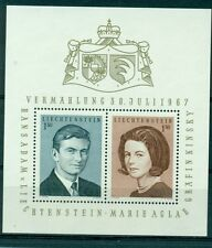 PERSONALITA' - PRINCE HANS-ADAM WEDDING LIECHTENSTEIN 1967 block