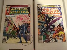 Battlestar Galactica #2 and 9 Original Marvel Comic Books from 1979 Space Mimic