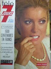 tele 7 jours  catherine deneuve   n° 805  18 octobre 1975