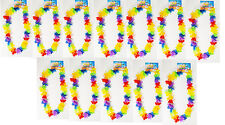 24 Rainbow Flower Leis Luau Hawaiian Tropical Party Favor Necklace LU-RBFLE
