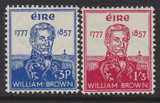 IRELAND, Scott #161-162: MNH, 1957 Admiral William Brown - Complete Set