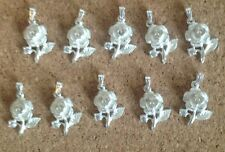 JOB LOT 10 Sterling Silver Rose Pendants/Cubic Zirconia 3mm Surplus Stock