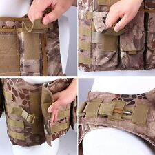 Paintball Tactical Airsoft Assault Combat Molle Plate Carrier Vest Hld Camo