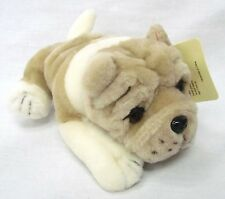"NEW 8""  BULLDOG Plush Stuffed Animal Toy by Plushland ~ Light Brown"