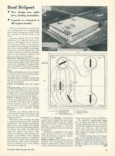 1953 Aviation Article Roof Heliport Design Helicopters Cable Tow System