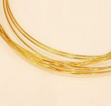 22K SOLID GOLD 28 GAUGE OR 0.32 MM,  ROUND WIRE 1 FOOT