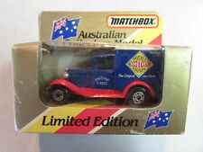MATCHBOX AUSTRALIAN COLLECTORS MODEL MB 38 FORD MODEL A SMITH'S POTATO CRISPS