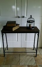INDUSTRIAL HALL TABLE CONSOLE SIDE ENTRANCE METAL & TIMBER 90 X 38  EXDISPLAY