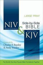 NIV and KJV Parallel Bible Large Print Hardcover Zondervan BRAND NEW