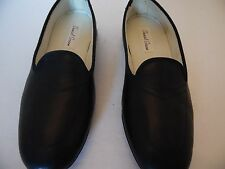 LADIES DANIEL GREEN NWOB BLACK SPLIT LEATHER HOUSE SHOES/SLIPPERS SIZE 7N