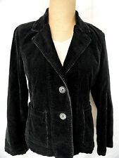 American Eagle Outfitters Womens Med Corduroy Jacket Black Blazer Pockets!