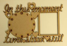 'In This Moment' Hanger With 1 Clock & Photo mdf blank