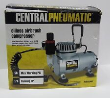 Central Pneumatic Oilless Airbrush Compressor - Model 93657 - New in Box!